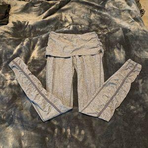 Lululemon grey leggings fold over skirt size 4